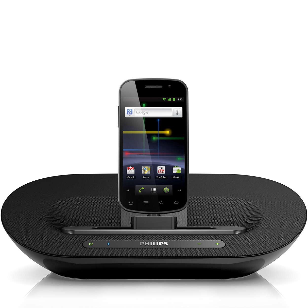 Libera tu música y carga tu teléfono Android