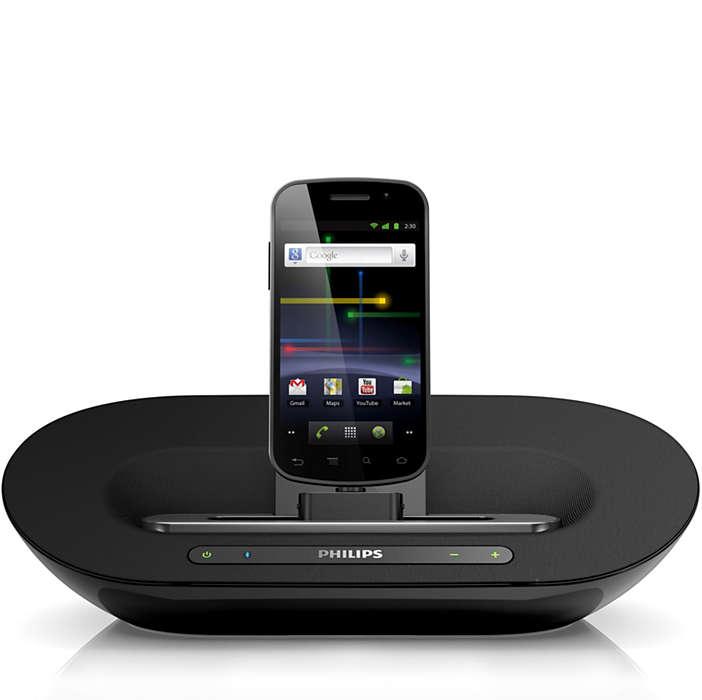 Liberte a sua música e carregue o seu telefone Android