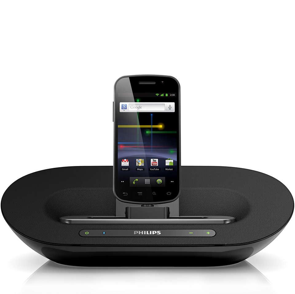 Osloboďte svoju hudbu a nabite svoj telefón s Androidom