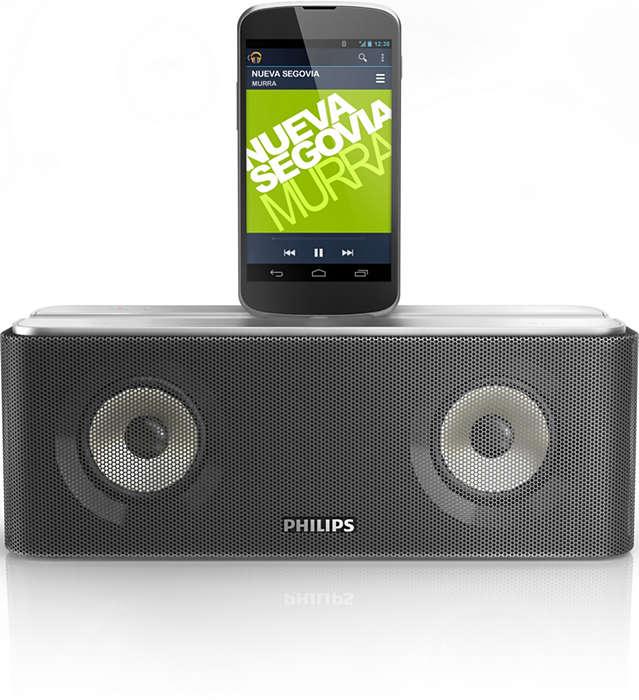 Излъчвайте поточно музиката си и зареждайте телефона си с Android