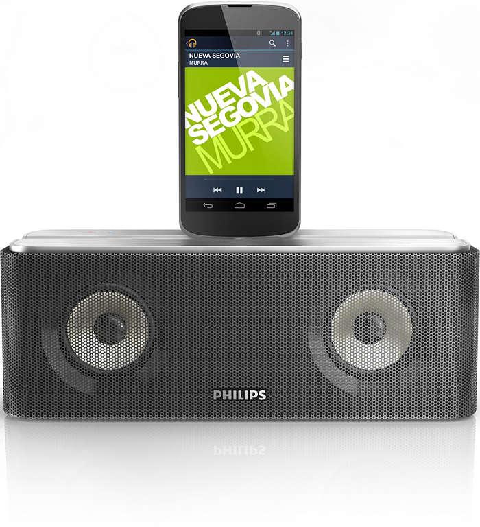 Strömma musik och ladda en Android-telefon