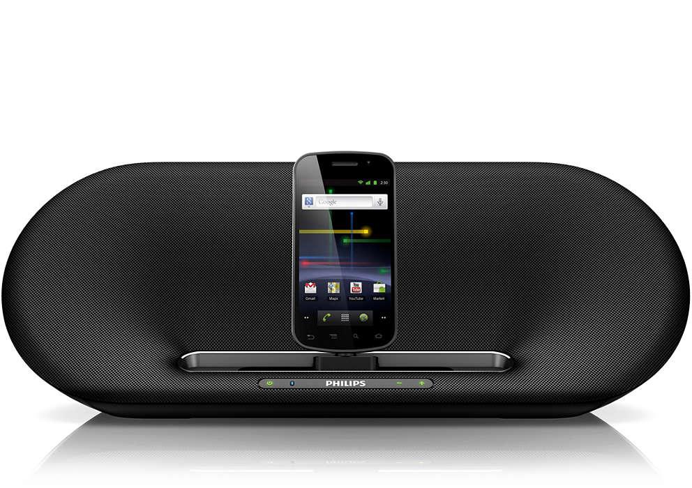 Zpřístupněte svou hudbu anabíjejte telefon se systémem Android