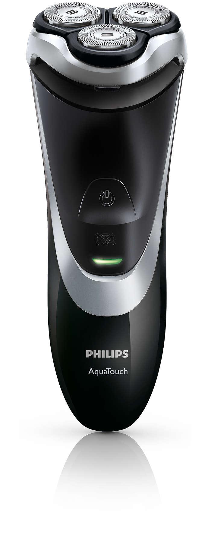 Aquatouch rasoir lectrique rasage sec ou sous l 39 eau at889 16 philips - Rasoir electrique etanche sous douche ...