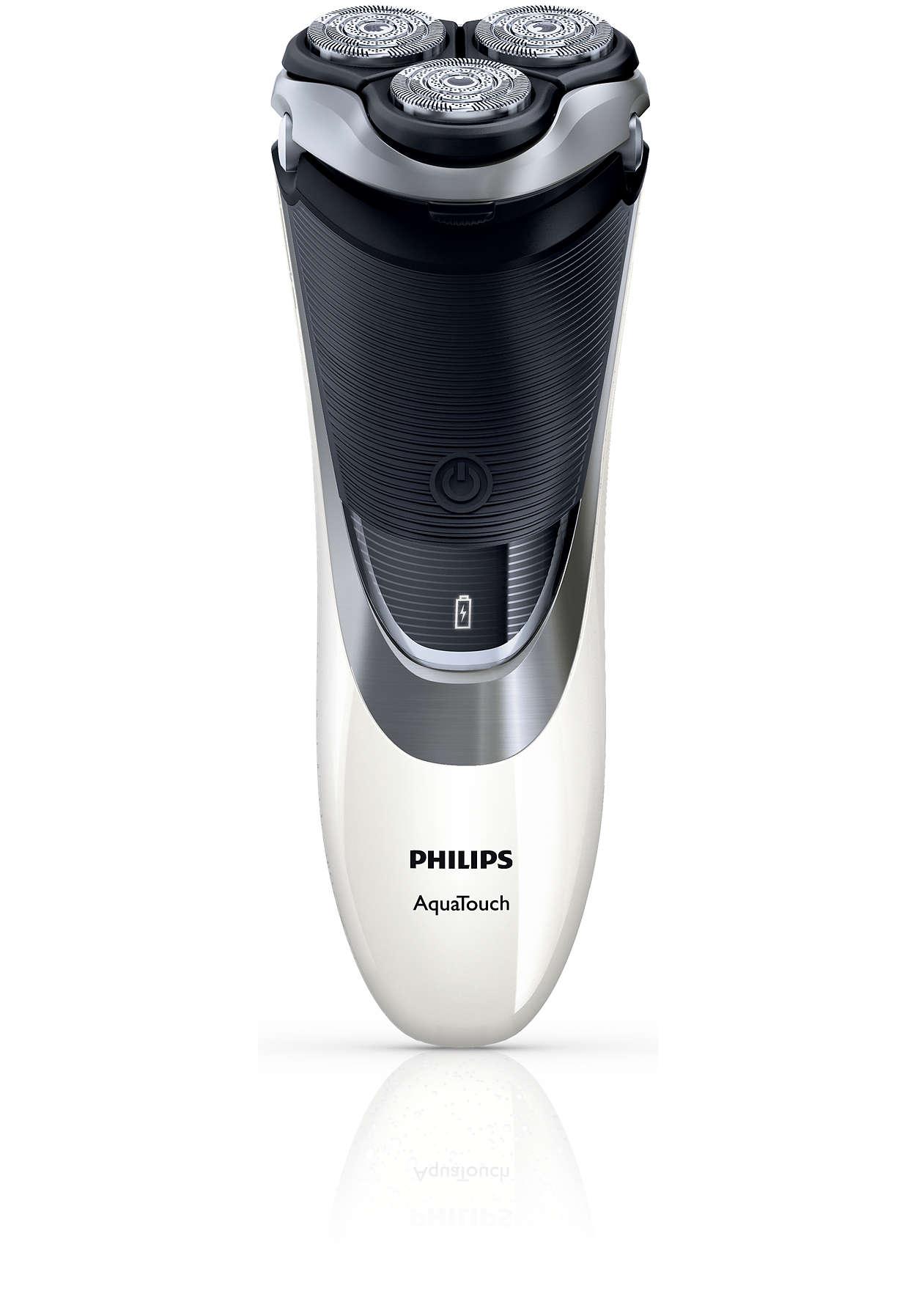 Rasoir lectrique rasage sec ou sous l 39 eau at941 18 - Rasoir electrique etanche sous douche ...