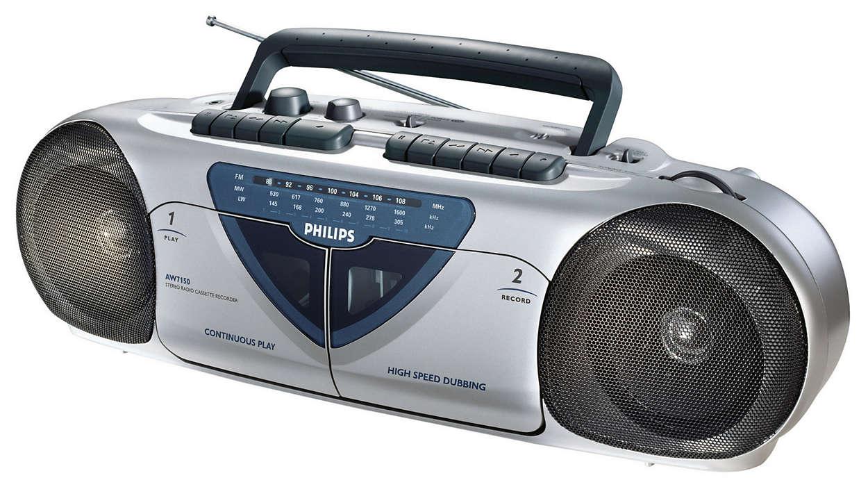 Radiocasete portátil