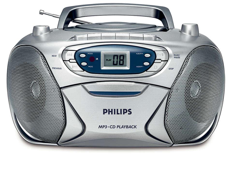 vše v jednom, hudba ve formátu MP3 s bohatým basovým zvukem