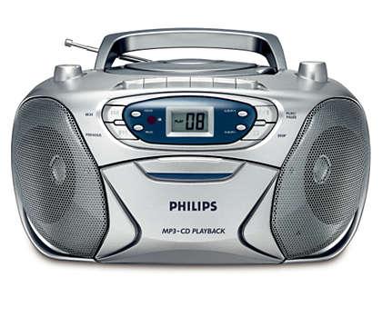 univerzális, MP3 zene gazdag mélyhangzással