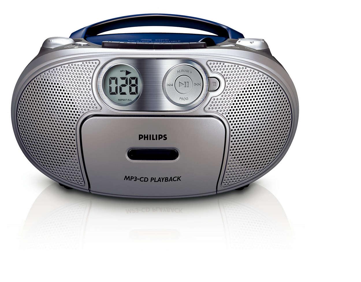 Todo en uno, música en MP3 y un sonido con graves enriquecidos