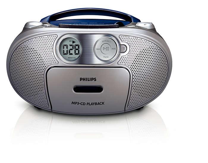 Allt-i-ett, MP3-musik med förstärkt bas
