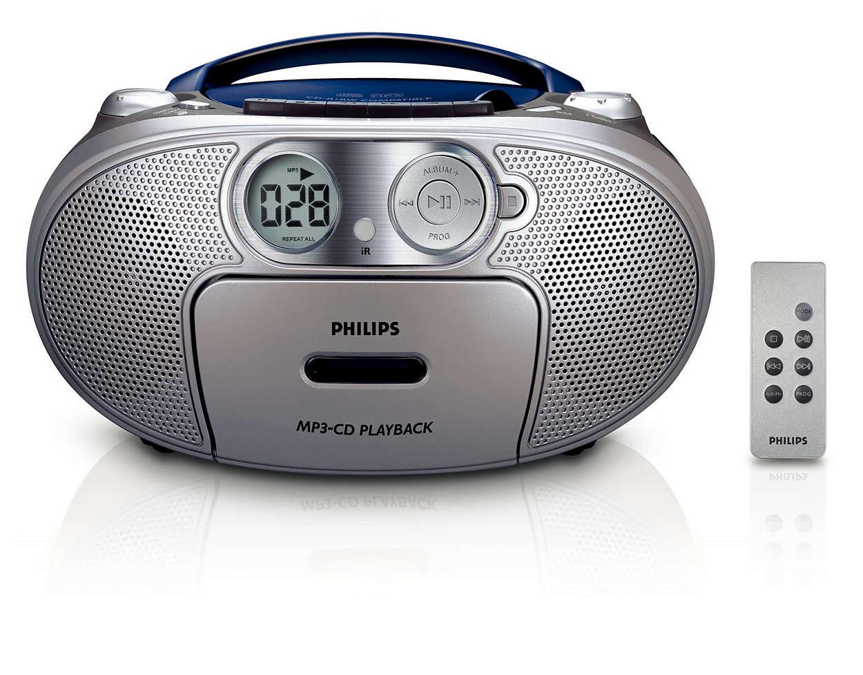 รวมไว้ในเครื่องเดียว ฟังเพลง MP3 พร้อมเสียงเบสที่มีพลัง