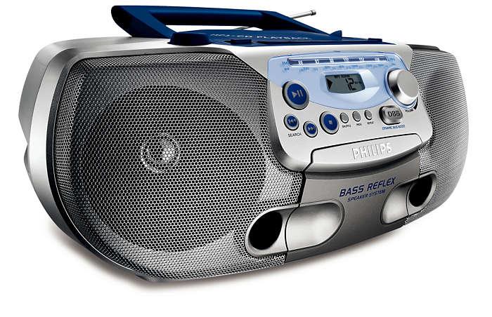Todo en uno, música en MP3 con un sonido grave enriquecido