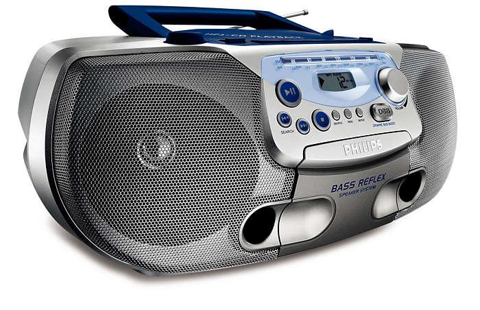 Todo en uno, música en MP3 con un sonido grave más rico
