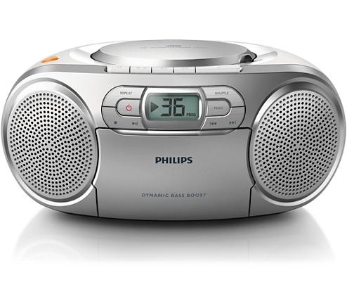 cd soundmachine mit kassette und radio az127 12 philips. Black Bedroom Furniture Sets. Home Design Ideas