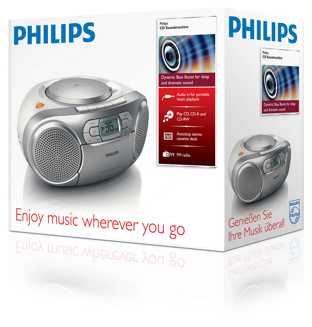 Cd Soundmachine Az127 12 Philips Turbo Bass Booster