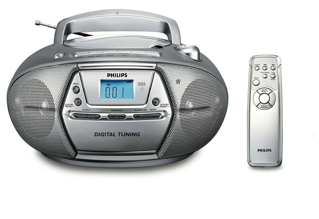 Воспроизведение MP3 и цифровой тюнер