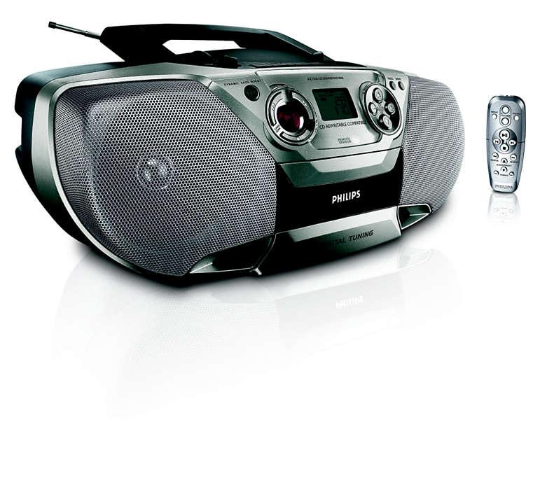 hepsi bir arada, etkileyici MP3 müzik