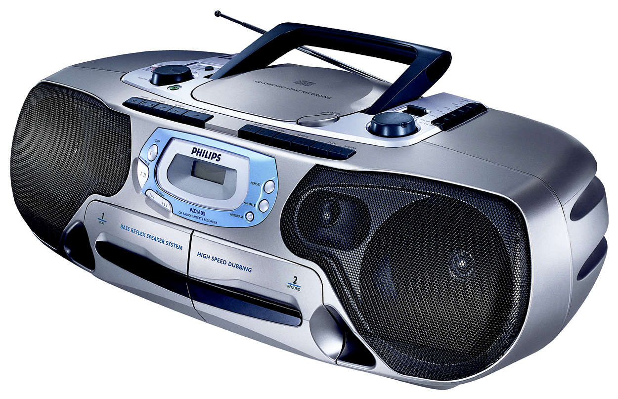 Deck duplo de cassetes estéreo