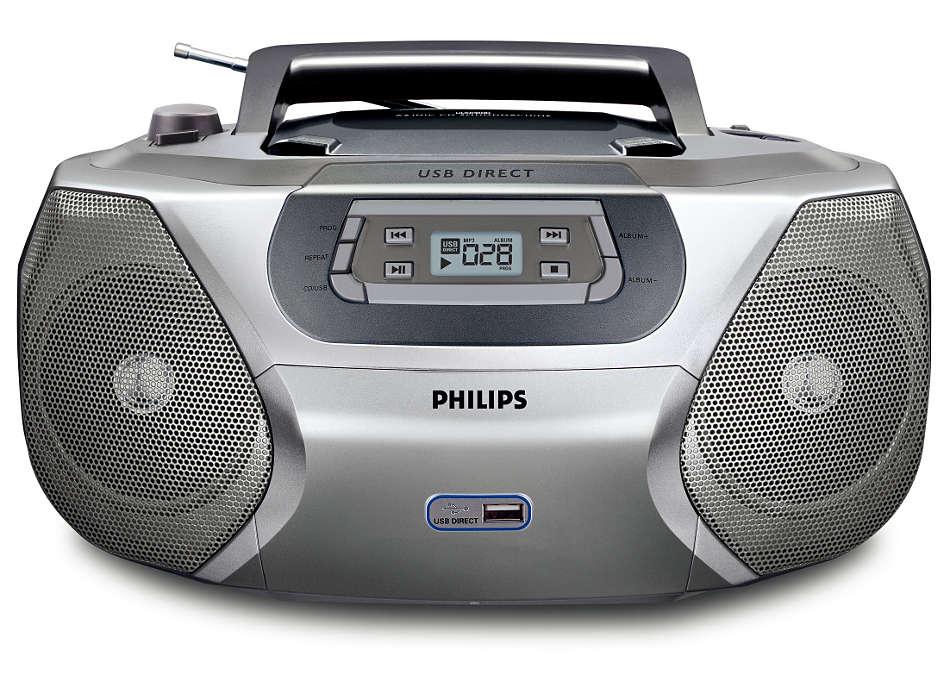 Speel uw digitale muziek af via de directe weergave vanaf USB