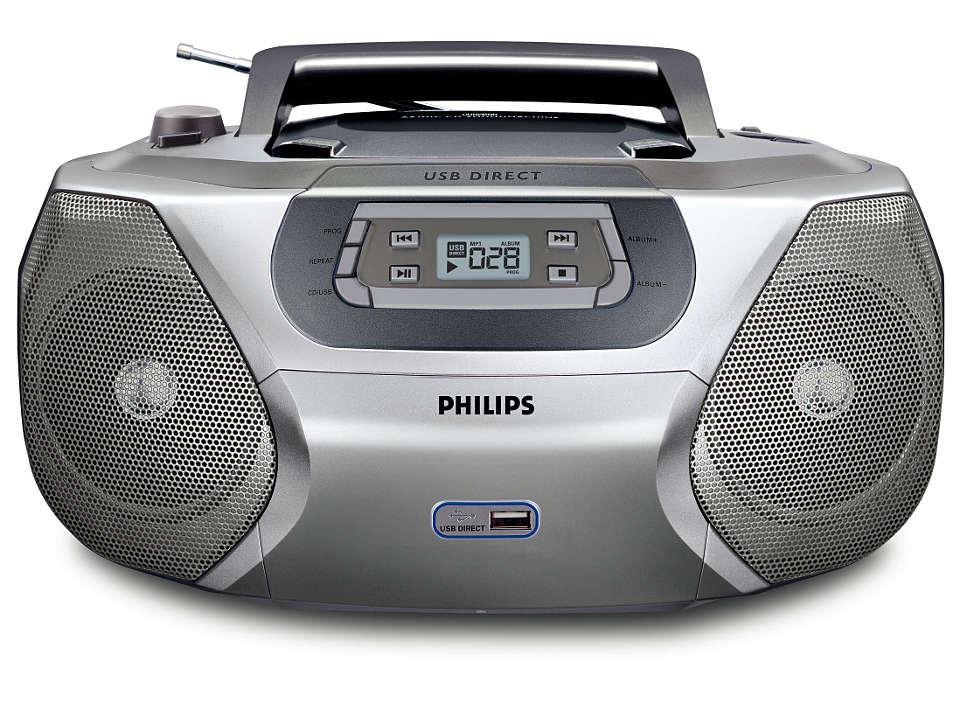 Воспроизводите цифровую музыку через прямой порт USB