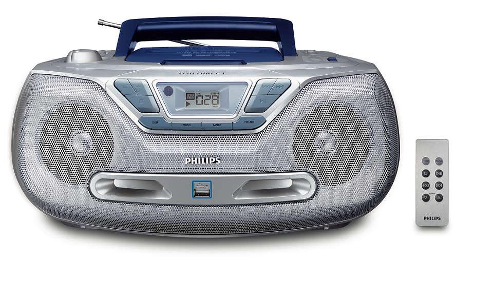 Riproduci la musica digitale tramite l'interfaccia USB diretta