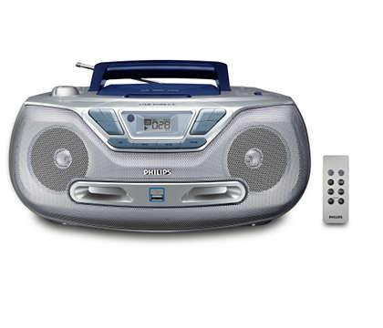 Odtwarzaj cyfrową muzykę przez gniazdo USB Direct