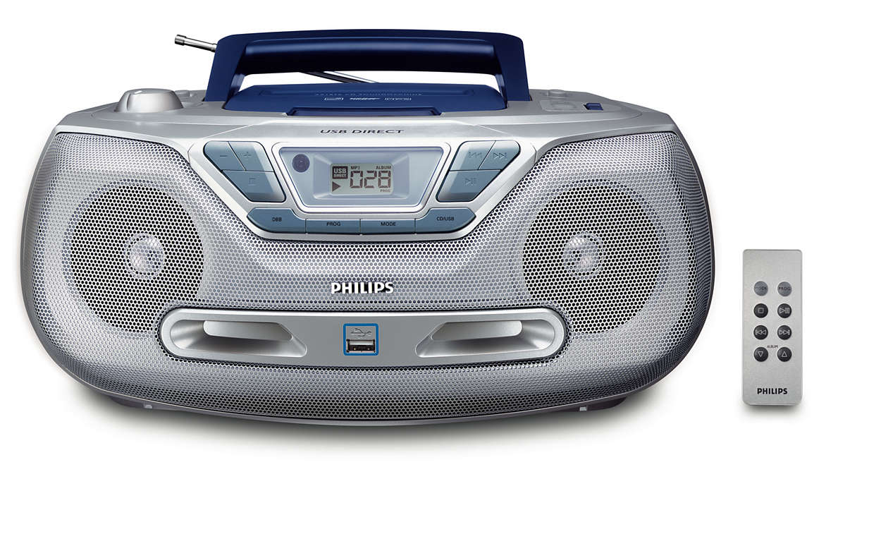 Reproduza a sua música digital através de USB Directo