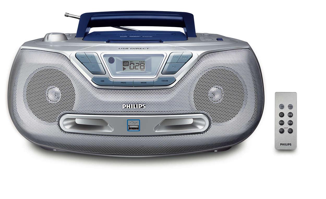 Redaţi muzica digitală prin USB Direct