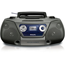 Portable cassette and CD player