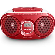 AZ215R/12 -    Prenosni radio s CD-predvajalnikom