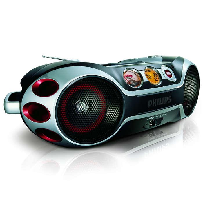 Música MP3 no seu computador usando o controle remoto