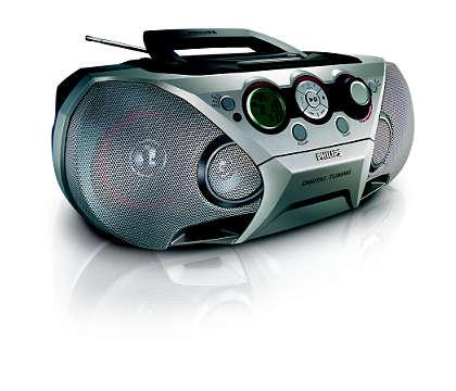All-in-one, vaikuttavaa MP3-musiikkia