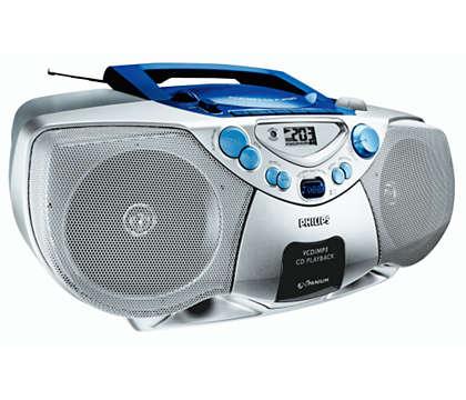 Přehrávání MP3-CD se zvýrazněním basů Dynamic Bass Boost