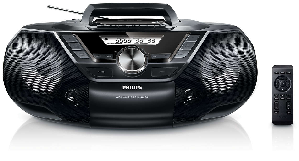 cd soundmachine mit kassette radio usb az787 12 philips. Black Bedroom Furniture Sets. Home Design Ideas