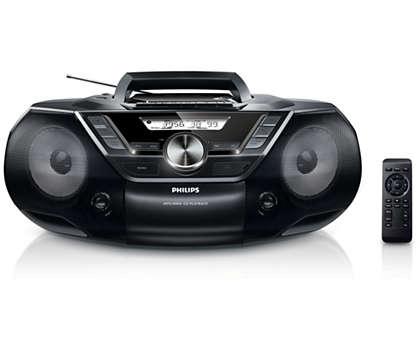 Erőteljes hangzást biztosít hordozható készülékei számára is
