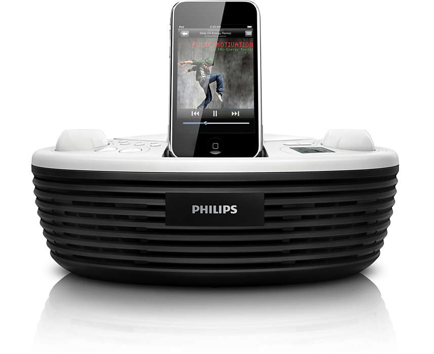 Ciesz się muzyką z iPoda i płyty CD, gdziekolwiek jesteś!