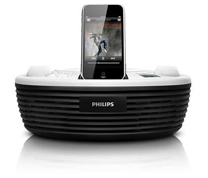 Desfrute de música do iPod e de CD onde quer que vá