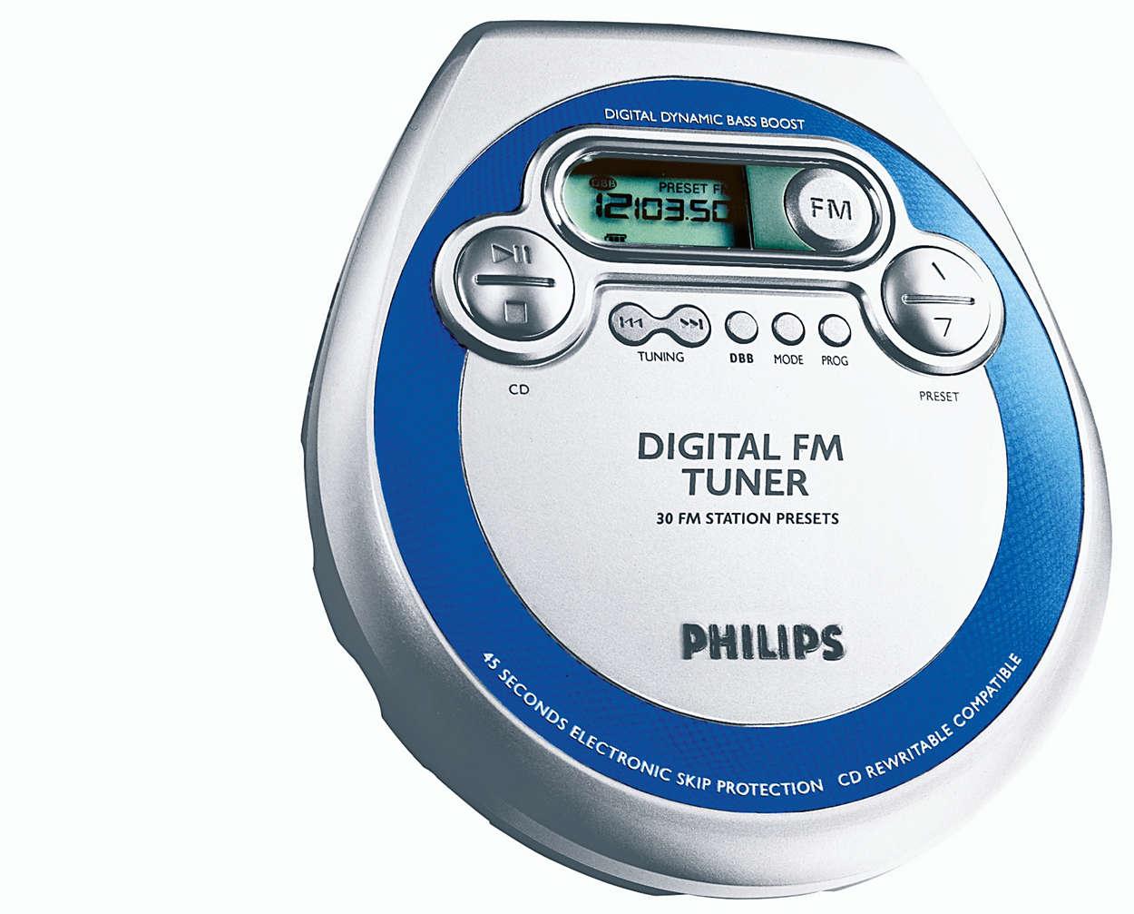Mukana digitaalinen FM-viritin