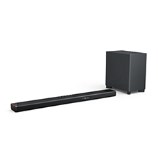 B95/10 Philips Fidelio Soundbar 5.1.2, jossa on langaton subwoofer