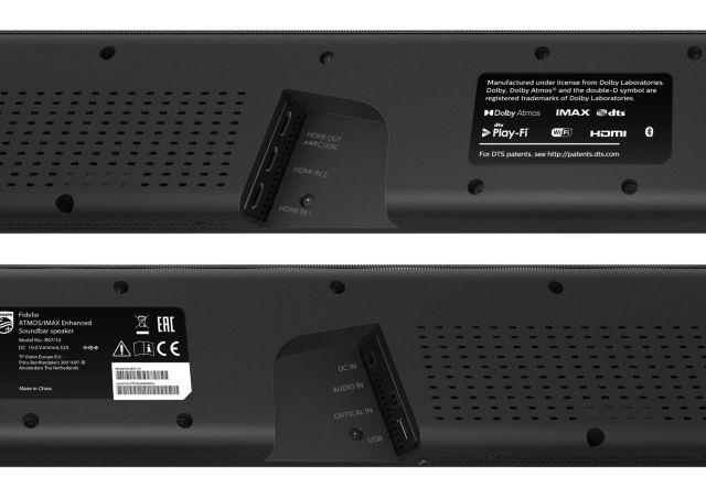 Philips Audio 2020: Fidelio Soundbars B97/10 und B95/10 - Anschlüsse