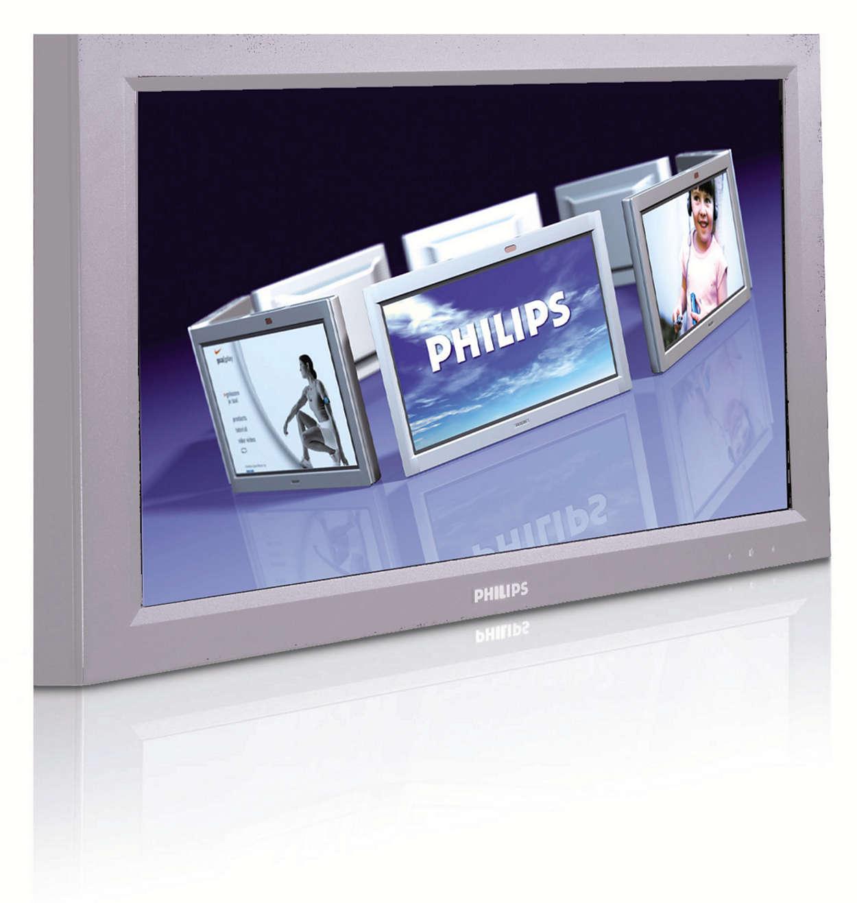 Excelente y robusta solución de pantalla pública de gama alta
