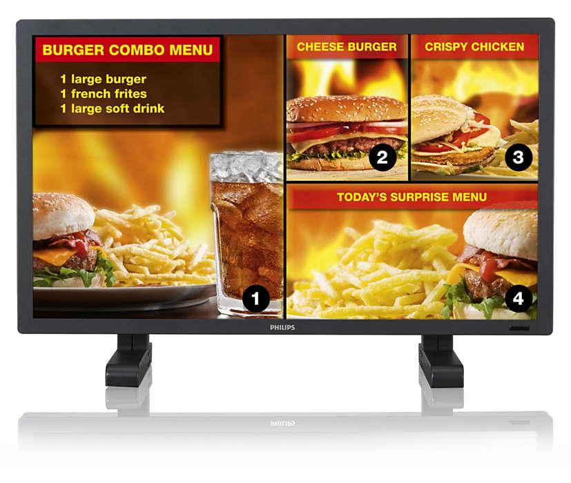 Najlepší univerzálny displej na reklamno-informačné zobrazenie