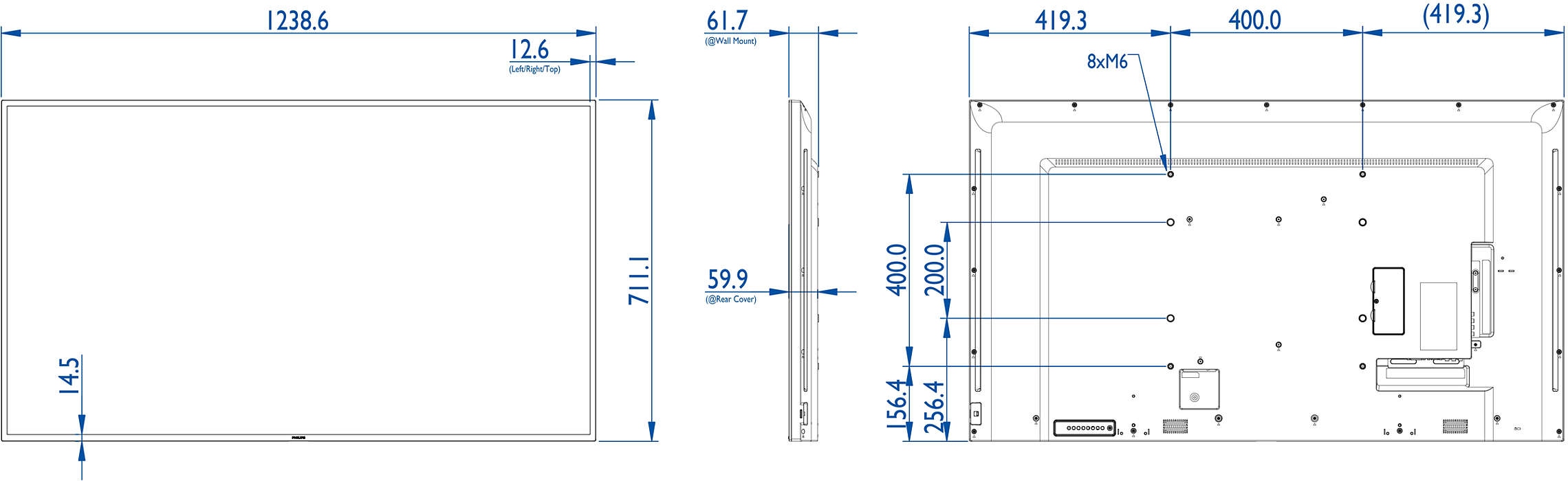 Q Line Display Bdl5530ql 00 Philips Phillips 7 Way Wiring Diagram Intensify Your Signage Experience