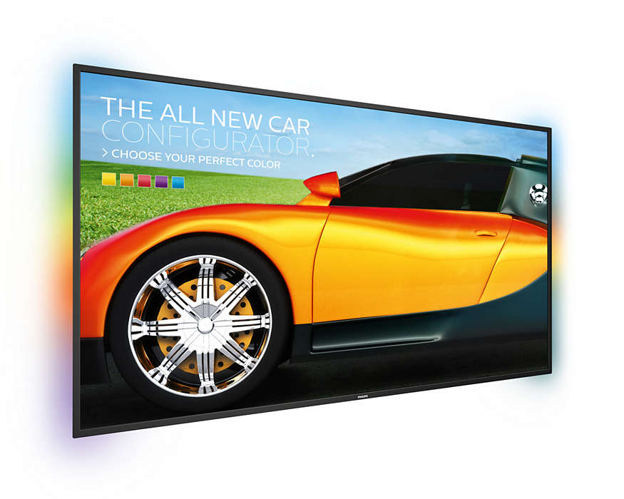 Larger than screen signage experience
