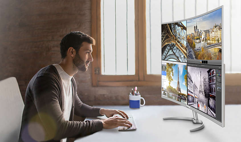 Philips BDM4037UW Curved Monitor