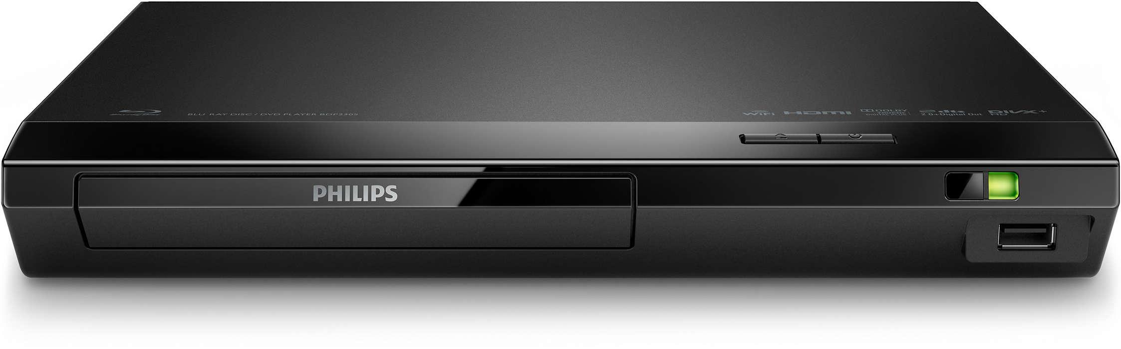 Blu-ray et DVD avec technologie Wi-Fi intégrée