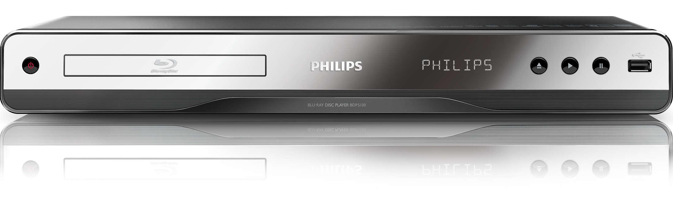 Oglądaj swoje ulubione filmy z komputera i na płytach Blu-ray.