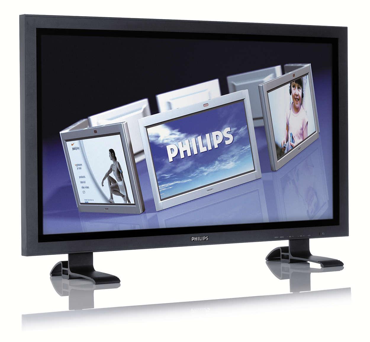 Solução de ecrã público multifuncional