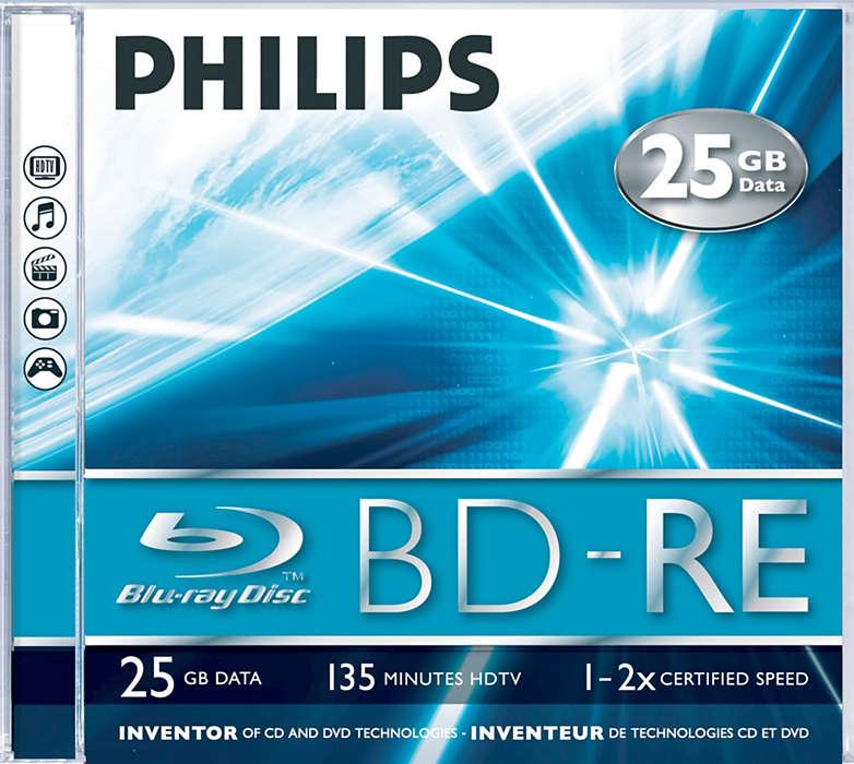Qualità e capacità 5 volte superiore rispetto ai DVD