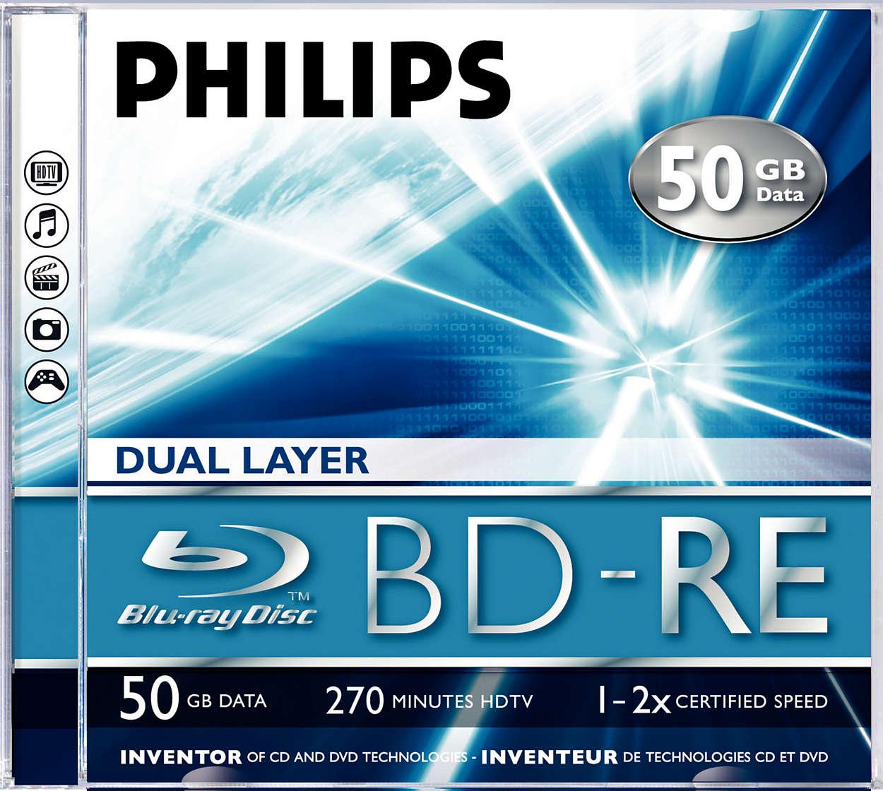 Qualità e capacità 10 volte superiore rispetto ai DVD