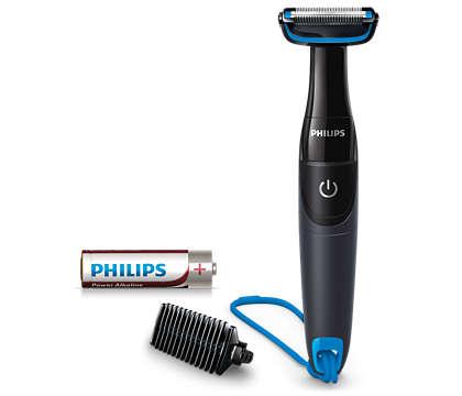 Przycina włosy na ciele, chroni skórę